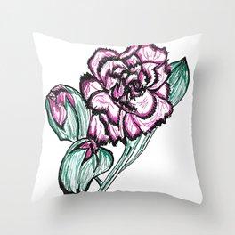 Flowering Buds Throw Pillow