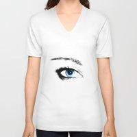 evil eye V-neck T-shirts featuring Evil Eye by vogel
