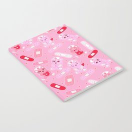 Menhera Nurses on Pink Featuring bears and bandages Notebook