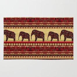 "African ornament . ""Elephants"" . Rug"