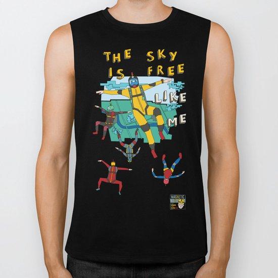 Skydive in the sky Biker Tank