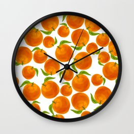 Oranges Make You Happy Wall Clock