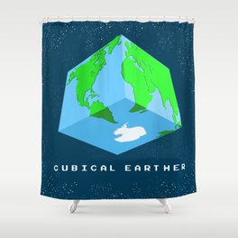 Cubical Earther Shower Curtain