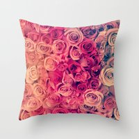 roses Throw Pillows featuring Roses by Msimioni