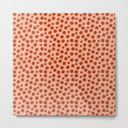 Irregular Small Polka Dots terracota Metal Print
