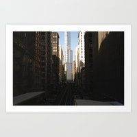 Urban Canyons Art Print