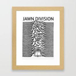 ∆ Jawn . Division ∆ Framed Art Print