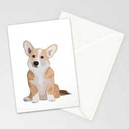 Corgi Waiting Stationery Cards