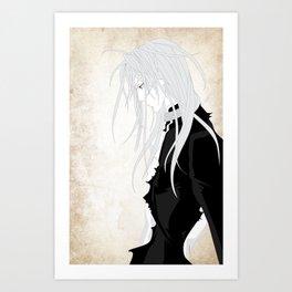Silver Hair Art Print