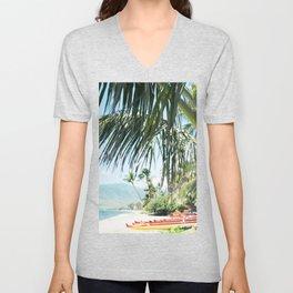 Aloha Sugar Beach Unisex V-Neck