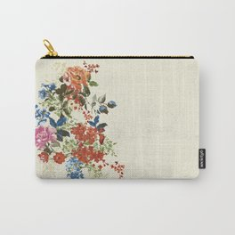 Painterly Floral Carry-All Pouch