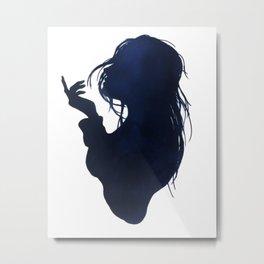 Sea breeze silhouette Metal Print