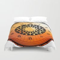 persona Duvet Covers featuring Persona Q Clock by Laharl
