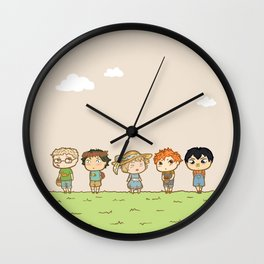 Spring! Karasuno 1st Years Wall Clock