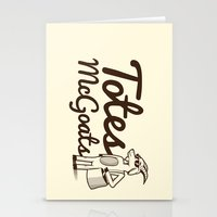totes Stationery Cards featuring Totes McGoats by Scoggz