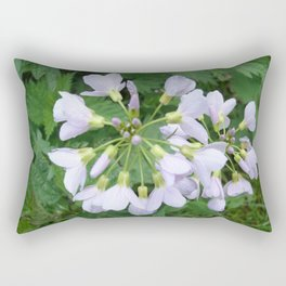 little purple flowers Rectangular Pillow