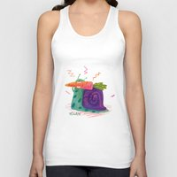 vegan Tank Tops featuring Vegan by Vikte Eziukas