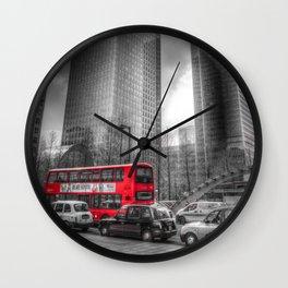 Double Decker London Bus Wall Clock
