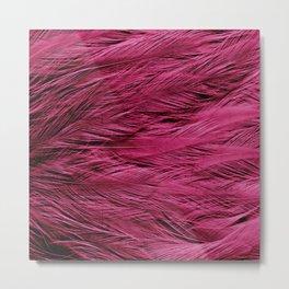 Magenta Feathers Metal Print