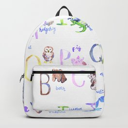 alphabet an Backpack