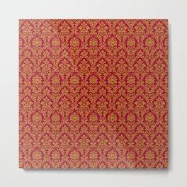Red Gold Pattern Metal Print