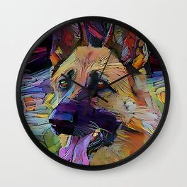 The GERMAN SHEPHERD from our POP YOUR POOCH line Wall Clock