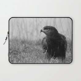 Young Common Buzzard B&W Laptop Sleeve