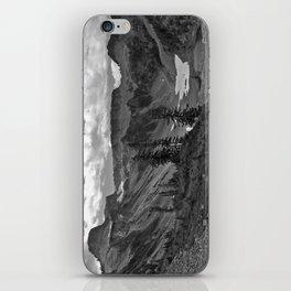 heather meadows, wa, usa  b&w iPhone Skin