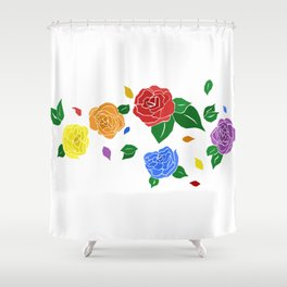 lgbt roses Shower Curtain