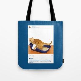 Litter Box Selfie Tote Bag