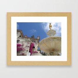 Castle fountain Framed Art Print