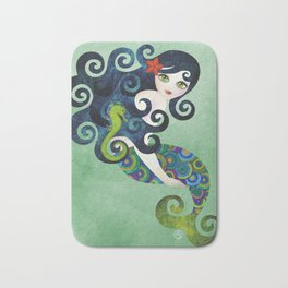 Aquamarine Mermaid Bath Mat