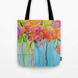 Running Roses Tote Bag