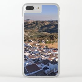 Panoramic View of a white town in Andalusia Clear iPhone Case