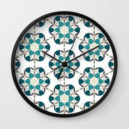 Flower of life tile Wall Clock
