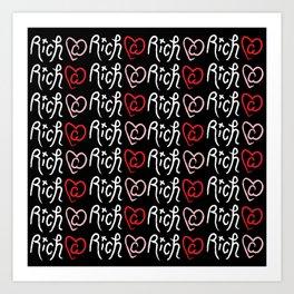 Ri¢h @ Heart Art Print