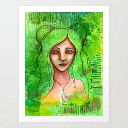 Green Ghost Art Print