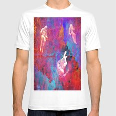 Lost in the Galaxy zx210 MEDIUM White Mens Fitted Tee