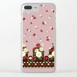 flower garden - pink Clear iPhone Case