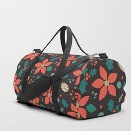Deck the Halls - Black Background  (Patterns Please) Duffle Bag