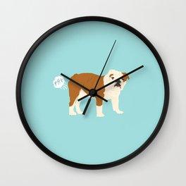english bulldog funny farting dog breed gifts Wall Clock