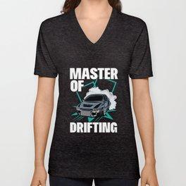 Master of Drifting - Motorsport Rennauto Gift Unisex V-Neck
