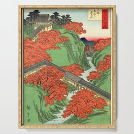 Hiroshige Temple & Mountains Serving Tray