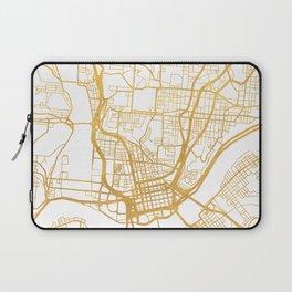 CINCINNATI OHIO CITY STREET MAP ART Laptop Sleeve