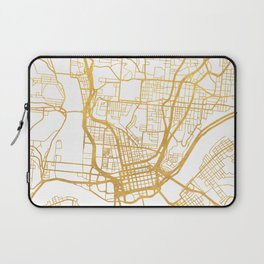 CINCINNATI OHIO CITY STREET MAP ART Laptop Sleeve