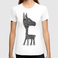 llama T-shirts featuring Llama by Jamie Killen