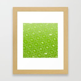 Abstract pattern with animal shapes Framed Art Print