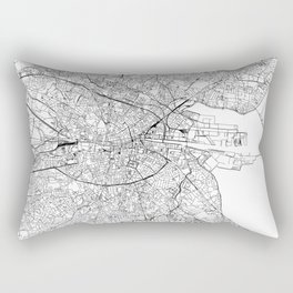 Dublin White Map Rectangular Pillow