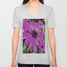 Honey Bee On A Spring Flower Unisex V-Neck