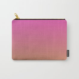BOOGIE LIGHTS - Minimal Plain Soft Mood Color Blend Prints Carry-All Pouch
